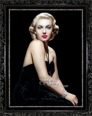 Vintage Art Deco photograph of Lana Turner