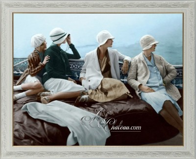 On George Baher's Yacht, after photo by Edward Steichen