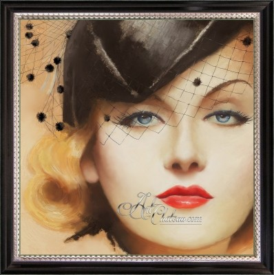 Vintage Hollywood Painting of Carole Lombard
