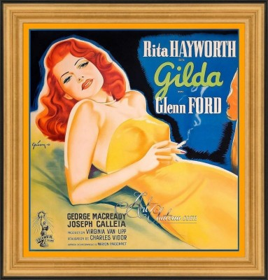 Vintage Movie Poster, Rita Hayworth Starring in Gilda