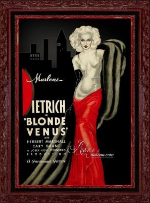 Vintage Movie Poster, Blonde Venus with Marlene Dietrich