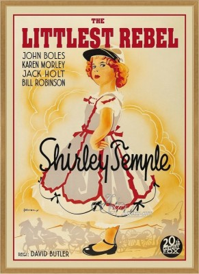 Vintage Movie Poster, The Littlest Rebel with Shirley Temple