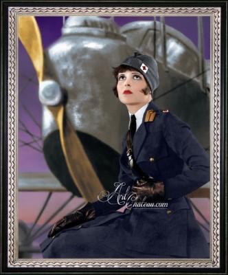 Vintage Hollywood Regency Photo of Clara Bow