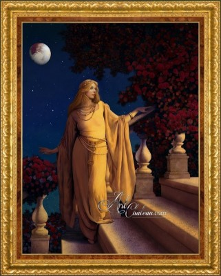 The Golden Maiden, after Painting by Maxfield Parrish