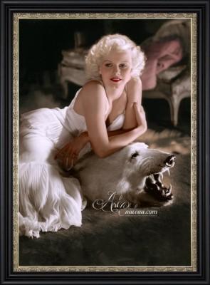 Vintage Style Art Deco Photo of Jean Harlow