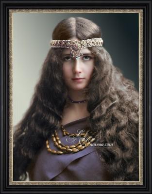 Vintage Art Nouveau Photograph of Cleo de Merode