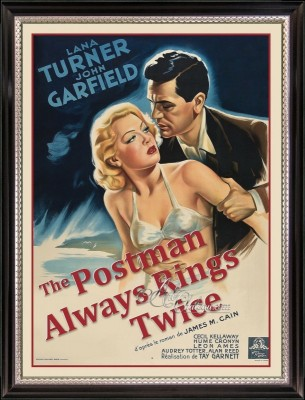 Vintage Style Movie Poster, The Postman Always Rings Twice