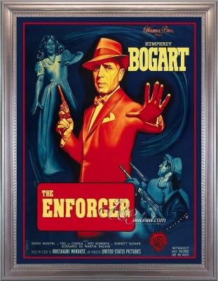 Vintage Movie Poster The Enforcer Starring Humphrey Bogart