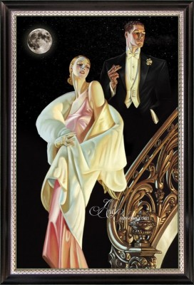 Art Deco painting, after Frank Leyendecker