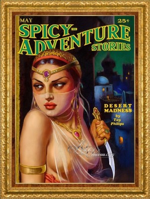 Spicy Adventure Stories, Remastered Pulp Cover