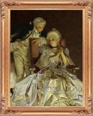 Romantic Liaison, after Frank Xavier Leyendecker